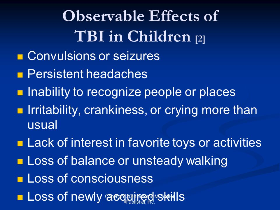 Observable Effects of TBI in Children [2]